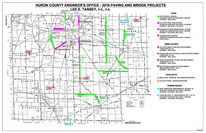 2018 County Projects Map